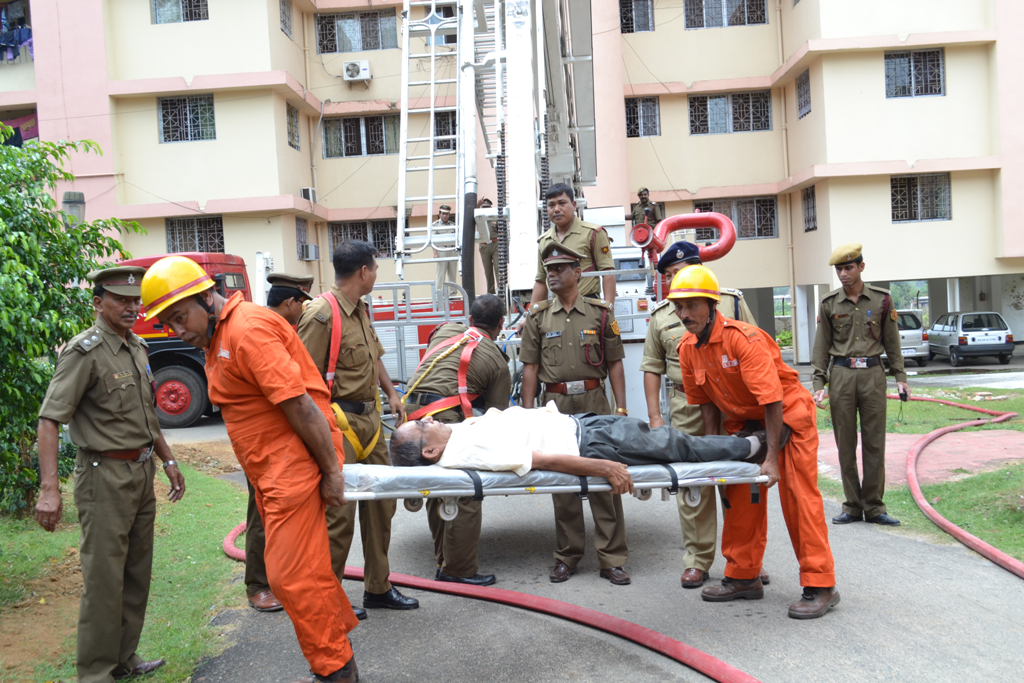 TRIPURA FIRE SERVICE & ONGC FIRE SERVICE JOINTLY CONDUCTING MOCK-DRILL