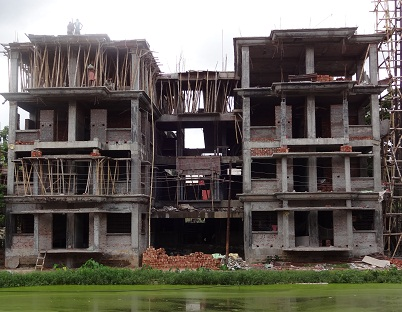 STAFF QUARTERS UNDER CONSTRUCTION AT AGARTALA